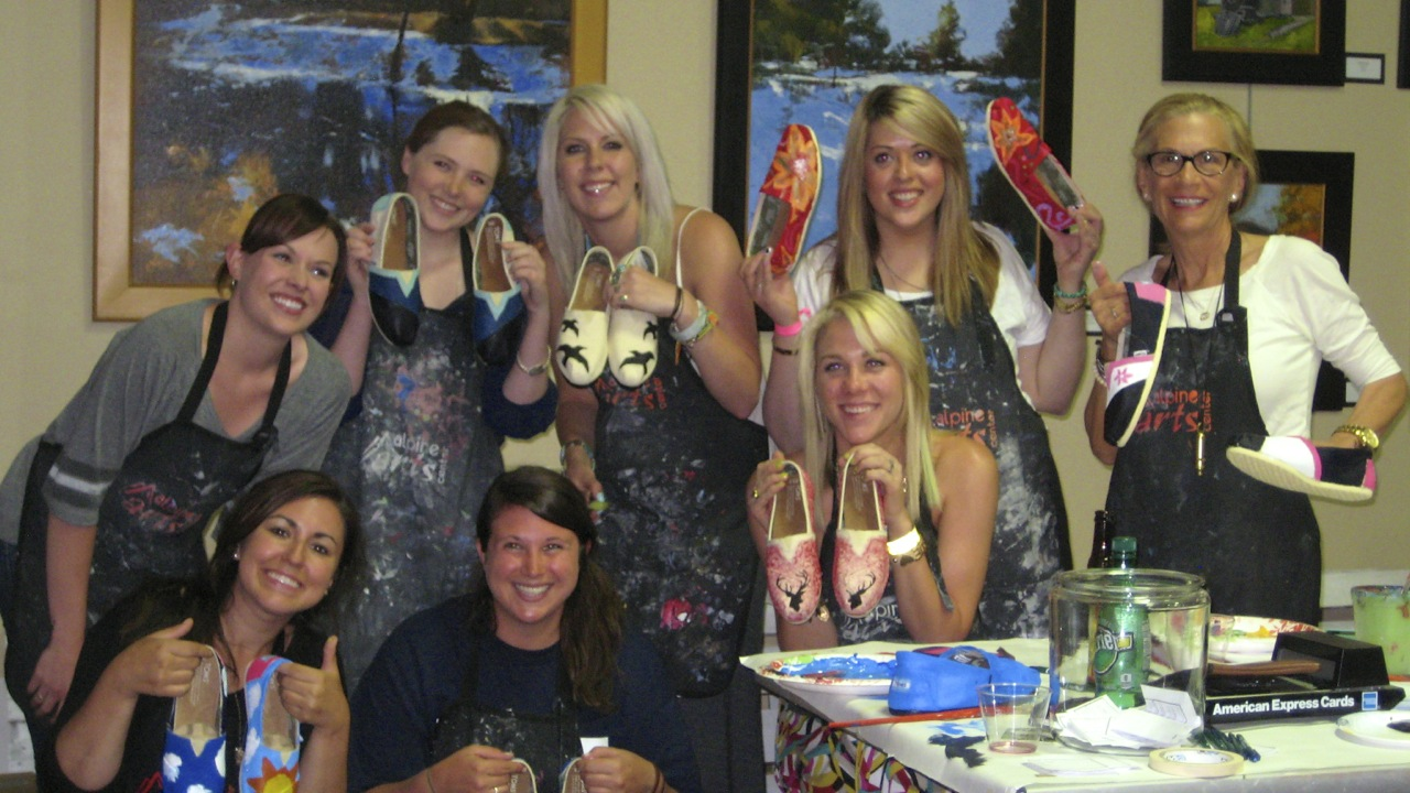 toms shoe painting party
